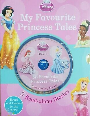 NEW Childrens Disney Princess 5-Book And Read-along CD - Disney, Paperback Book • 5.99£