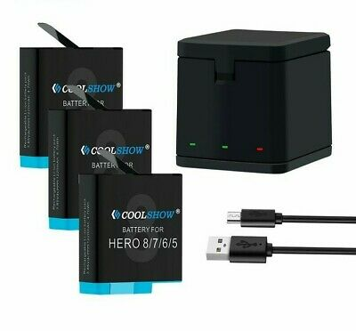 $ CDN43.97 • Buy High Quality For Gopro Hero 8 7 6 5 Charging 3 Slots Box Battery With Charger