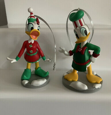 Disney Store Daisy Duck And Donald Duck Christmas Tree Decorations. • 14£