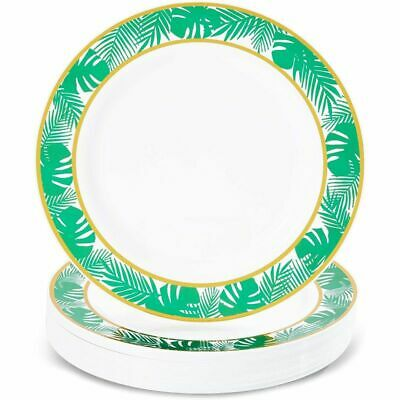 24 Disposable Plastic Dinner Plates, Hawaiian Luau Summer Tropical Party 9 In. • 24.99£