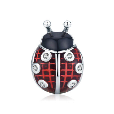 Red Ladybird Silver Charm Genuine 925 Silver • 12.40£