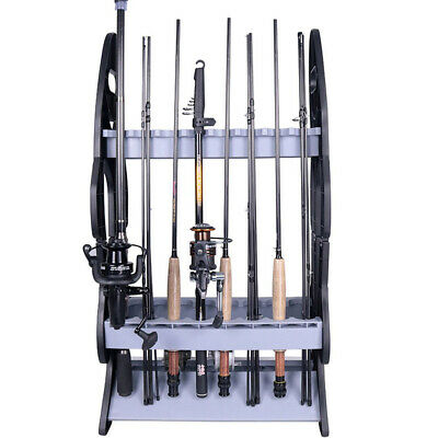 AU24.94 • Buy FISHING ROD HOLDER RACK ✱ Holds 16 Fish Rods ✱ Floor Storage Stand Double Si