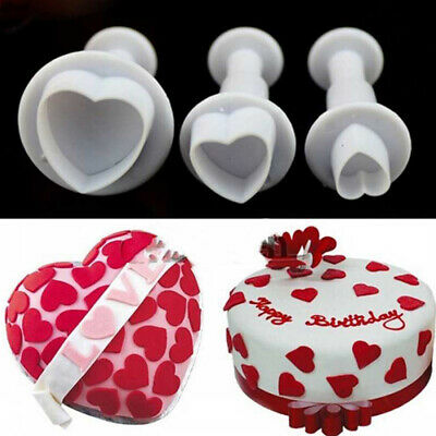 Valentine's Day Sandwich Bread Cake Maker Mold Cutter DIY Tool Heart Shape • 4.91£