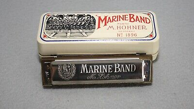$28.50 • Buy Marine Band Harmonica Made By M. Hohner No. 1896 Made In Germany C Key A440