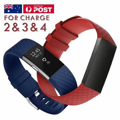 AU3.75 • Buy For Fitbit Charge 2/3/4 Band Classic Colored Buckle Replacement Watch Wristband