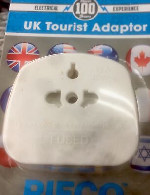 UK Tourist Adaptor International/UK/USA/Europe Convert 2 Pin To 3 Pin • 2.49£