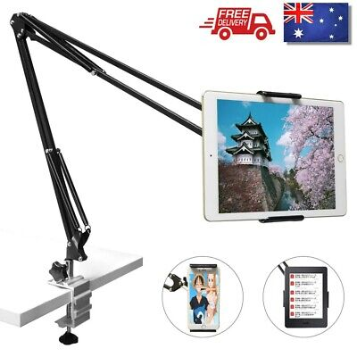 AU33.99 • Buy Tablet Holder For IPad Pro Air 7.9-10.5 Mini Clamp Adjustable Arm Desk Bed Mount