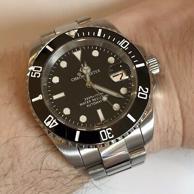 $ CDN180.62 • Buy Mens Automatic Watch Giv Black Submariner Divers Sapphire Ceramic Nh35 S Steel