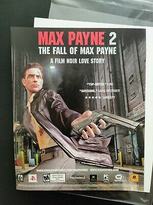 Max Payne 2 PS2 XBox PC | 2004 Vintage Game Print Ad Poster Art Official Promo • 12.45£