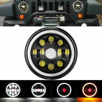 AU46.79 • Buy 1x 7  Inch Round LED Headlight High Low Beam DRL Fit JEEP JK GQ PATROL Projector