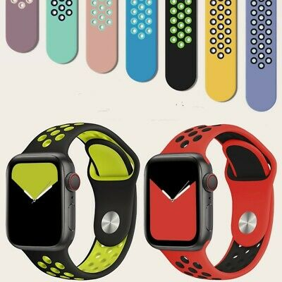 $ CDN11.34 • Buy Apple Watch Band Series 6 5 4 2 3 SE Silicone IWatch Strap  40mm/44mm/42mm/38mm