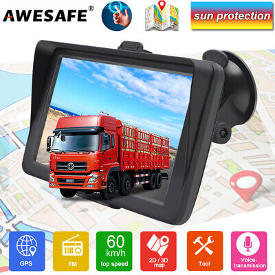 AU79.99 • Buy 7  AWESAFE GPS Navigation Truck/RV GPS Navigator With Sunshade & Australia Map