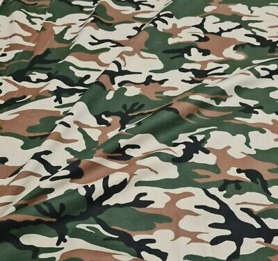£6.25 • Buy Camouflage  Cotton Fabric  Stretch Twill -sold By The Metre
