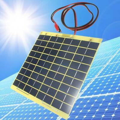 12V 5W Solar Panel Fit Car Battery Irrigation Trickle Charger Back Up Power TH • 11.20£