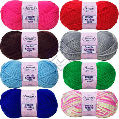 New Pack Of 5 100g Soft Cozy Double Knitting Sewing Yarn & Wool 240m Approx.. • 3.99£