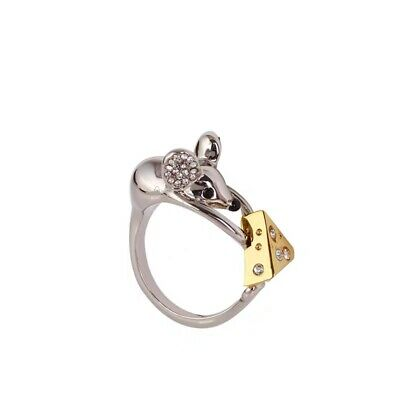 $ CDN24.35 • Buy Kate Spade New York Year Of The Rat Mouse & Cheese Ring Size 7