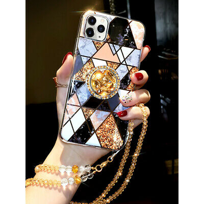 AU18.38 • Buy Glitter Bling Epoxy Ring Stand Case Cover For IPhone 12 Pro Max 11 Pro XS XR 7 8