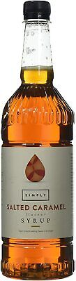 Salted Caramel, 1 Litre Simply Syrup For Coffee Latte Flavour Cakes Drinks • 7.36£