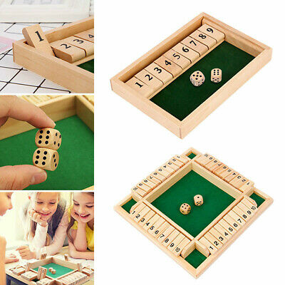 £6.39 • Buy New Shut The Box Game Wooden Board Number Drinking Dice Toy Family Game Fun