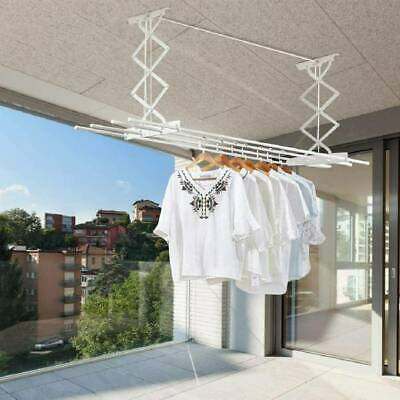 £23.99 • Buy Retractable Ceiling Clothes Dryer Laundry Pulley Airer Drying Space Rack Patio