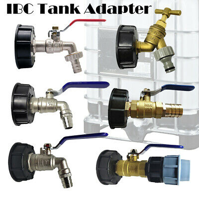 IBC S60X6 Water Tank Outlet Fitting/connector/adapter With Range Of Tap Outlets • 6.79£