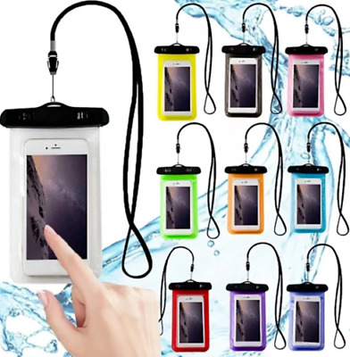 Swimming Waterproof Underwater Case Cover Dry Bag Pouch Lanyard For Mobile Phone • 2.19£