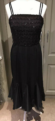 £11.50 • Buy Vintage Beaded Cocktail Dress From After Six By Ronald Joyce