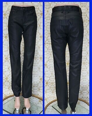 £354.60 • Buy NEW VERSACE COLLECTION BLACK STRETCHY RUBBER PANTS Size 32