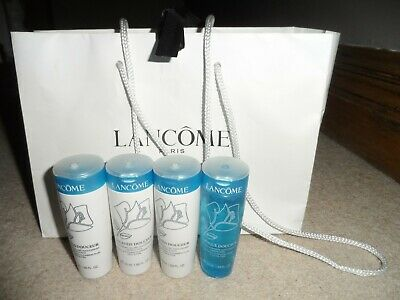 3 X LANCOME GALATEIS DOUCEUR CLEANSING FLUID & 1 TONIQUE TONER 50ML SET IN BAG • 12.99£