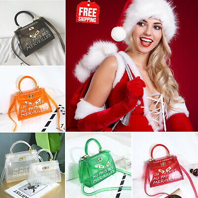 Clear Women Un Voyage Handbag Casual Jelly Bag Candy Color Shoulder Bags Tote UK • 6.79£