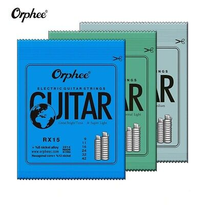 $ CDN6.25 • Buy Orphee Electric Guitar Strings 9s-42/10s-46/11s-52 Nickel Alloy 6Pcs String Set