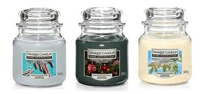 NEW Yankee Candle Scented Fragrance Candles Home Gift Medium Glass Nice Jar 340g • 13.99£