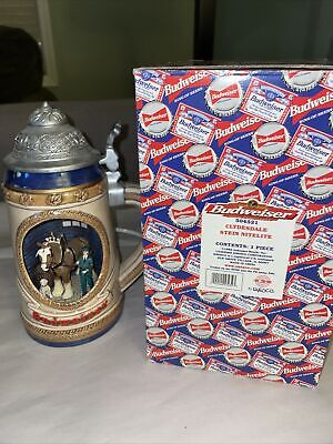 $ CDN90.68 • Buy Rare Vintage Budweiser Clydesdale NiteLite Beer Stein Lamp W/ Original Box Light