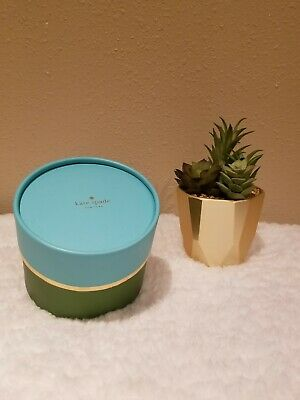 $ CDN15.14 • Buy New Kate Spade Retail Gift Box Green Gold Teal For Watches Jewelry & Accesories