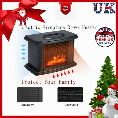 Freestanding Electric Fireplace Stove Heater LED Flame Effect +Remote Control • 27.49£