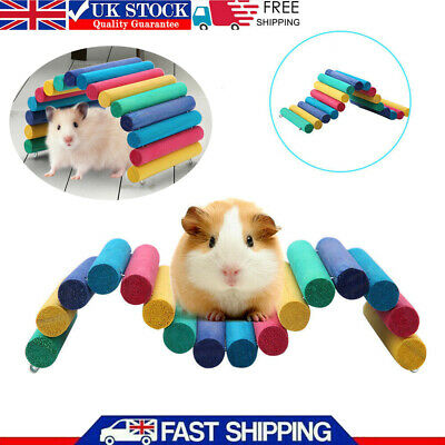 £5.85 • Buy Pet Hamster Colorful Wooden Bridge Guinea Pig Rat Ladder House Playing Toys