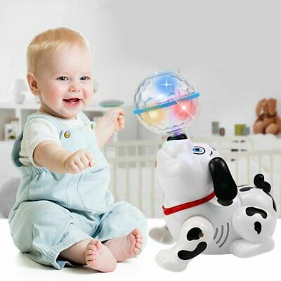 Electronic Walking Dancing Robot Dog Smart Musical Toy With Light Sound Kid @I • 10.93£