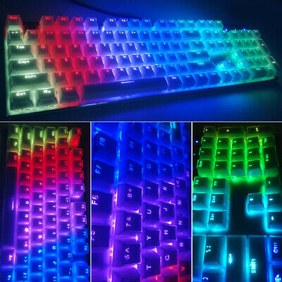 Pudding Keycaps Double Shot Translucent PBT Standard Keys For RGB New • 12.73£
