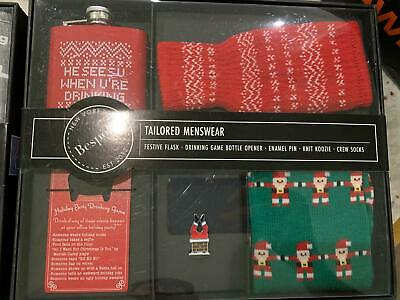 $8.97 • Buy Bespoke Tailored Mens Holiday Party Boxed Set Christmas Gift Box Accessories NWT