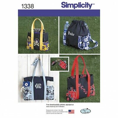 £10.25 • Buy Simplicity SEWING PATTERN 1338 Tote Bags,Backpack,Change Purse,Key Ring