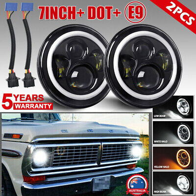 AU73.99 • Buy 7   LED Headlights W/Turn Signal For 1953-1977 Ford F-100 F-250 F-350 Pickup