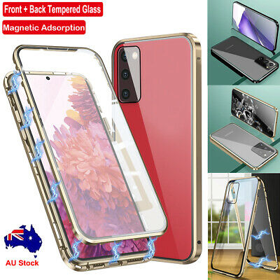 AU13.99 • Buy For Samsung Galaxy S20 FE Note 20 Ultra Metal Magnetic 360° Tempered Glass Case