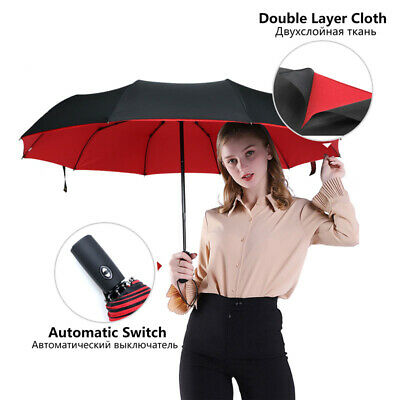 AU25.58 • Buy Double Layer Windproof Fully-automatic Umbrella Commercial Large Durable PaSBA
