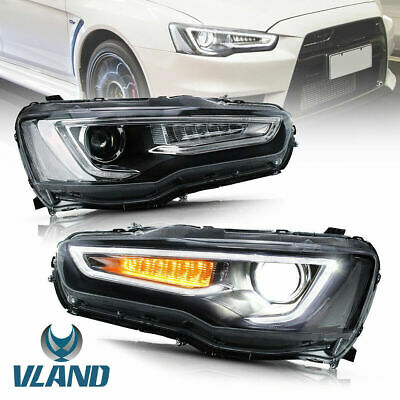 AU569.99 • Buy AudiStyle Customized  Headlights W/ Sequential For 08-17 Mitsubishi Lancer EVO X