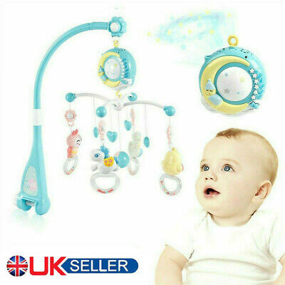 Baby Crib Mobile Musical Bed Bell With Controller Music Night Light New Born Toy • 21.99£