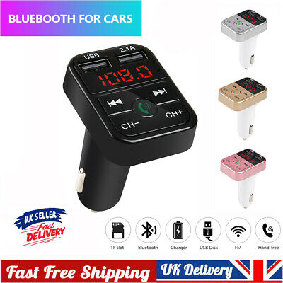 UK Wireless Car Kit FM Transmitter Bluetooth Radio MP3 Music Player USB Charger • 5.19£