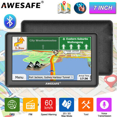 AU83.99 • Buy 7 AWESAFE Car GPS Navigation System Truck Navigation Bluetooth Sat Nav AU Map