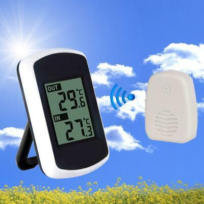 Indoor Outdoor Weather Stations Wireless Thermometer Temperature With Sensor UK • 11.99£