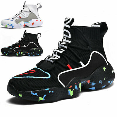 $31.99 • Buy Men's Fashion Running Shoes Outdoor High Top Lightweight Sports Tennis Sneakers