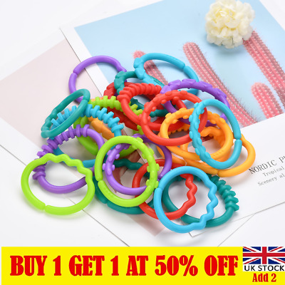 £7.46 • Buy 24Pcs/set Baby BPA Free Teether Toddler Teething Toy Ring Chewable Soother CA